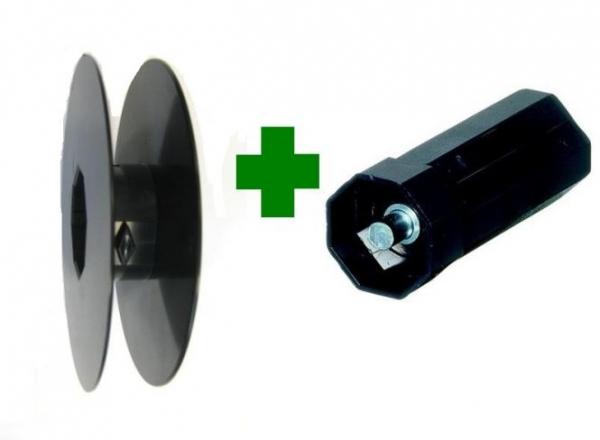 Gurtscheibe für SW 40 D = Ø 130 mm, d = Ø 90 mm mit Walzenkapsel für 23 mm Gurt